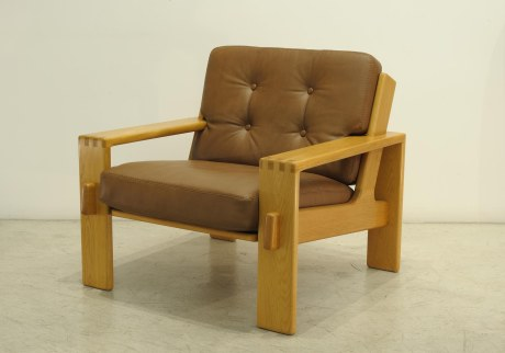 "Pair of armchairs ""Bonanza"" by Esko Pajamies for Asko, Finland, circa 1966, L 80 W 80 H 77 cm"