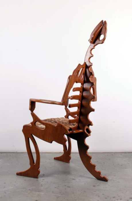 Prototype of a dinosaur armchair, 1960, France, H150 L80 W70 cm