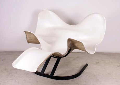 """Elephant"" Lounge Chair in Fiberglass by Bernard RANCILLAC, France, 1966, L 160 W 146 H 100 cm."
