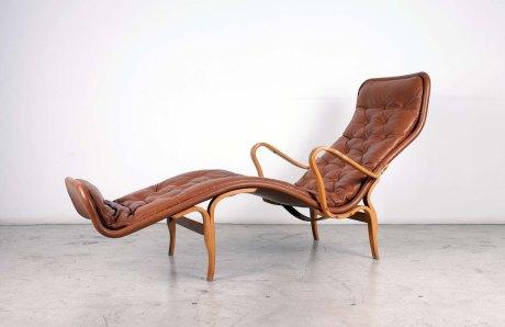 Lounge Chair by Bruno Mathsson, Sweden, 1960, L 180 cm W 70 cm H 90 cm.