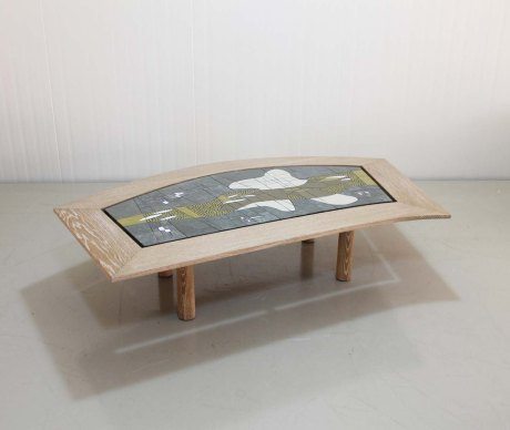 Glass Mosaic Table by Berthold Muller, German, 1960.