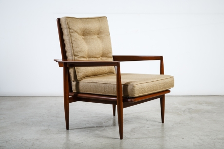 Pair of caned chairs by Fritz Gotthelf, 1950, L 76 W 70 H 86 cm