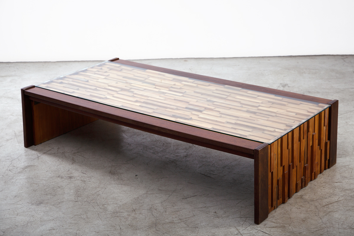 Rosewood Coffee table by Percival Lafer, Brazil, circa 1960. L 149 W 76 H 35 cm