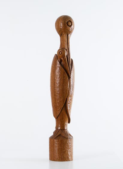 Wooden sculpture signed Le Pape, France, 1920, H 60 cm