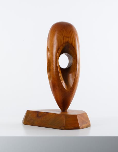 Wood sculpture signed Frid, USA, 1950, H42 cm