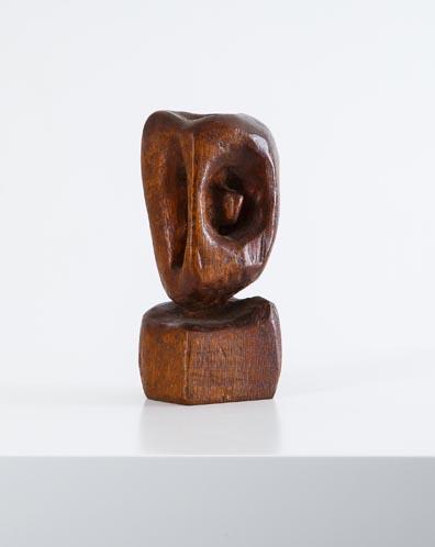 Wood Sculpture, 1950, H 19 cm