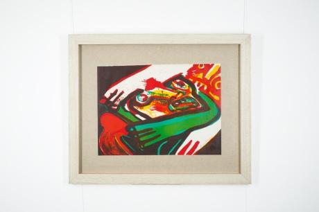 Original lithograph by Bengt Lindström, Cobra artist movement, Sweden, circa 1970, 89 x 108 cm