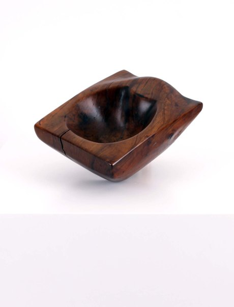 Wooden bowl, France, 1950, W 23 cm