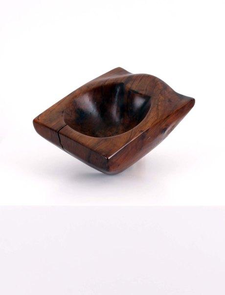 Wooden bowl, France, 1950, W 23 cm