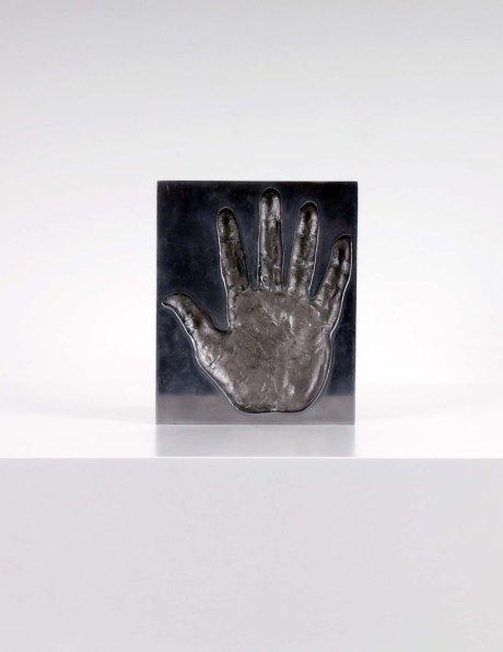 Aluminium handprint, 1970, L 20 cm