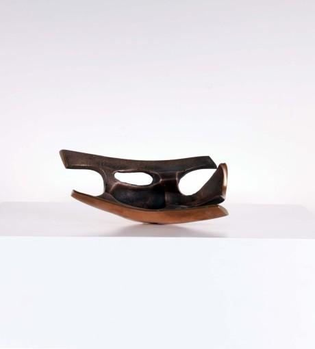 Bronze Ashtray by Brouard, France, 1970, L 24 cm W 13 cm H 7 cm.