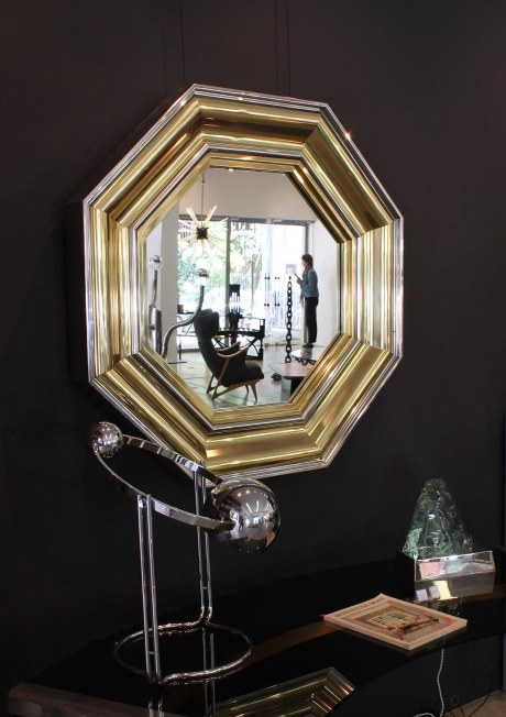 Octagonal Mirror from the seventies by Willy Rizzo, Italy, circa 1970