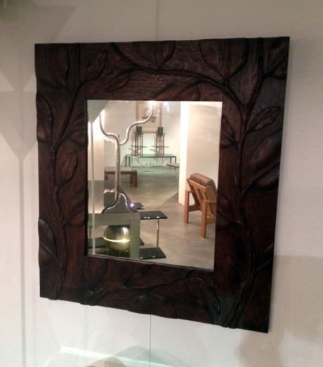 Wooden Mirror, France, 1920, W 90 H 100 cm