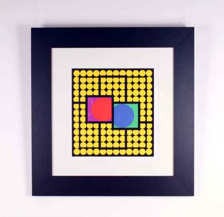 Original Lithography by Vasarely,1970, L 103 cm, W 99 cm, Ed. 146/250.