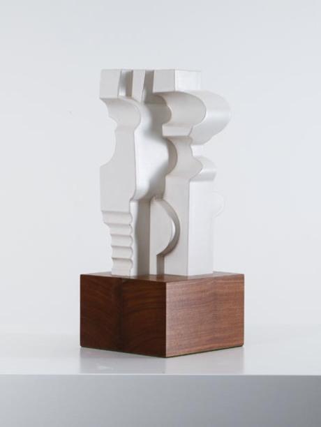 Cubist ceramic, 1940, L 16 W 16 H 38 cm