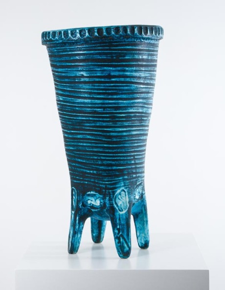 Ceramic vase, Accolay, France 1950. H 64.5 DIA 32 cm