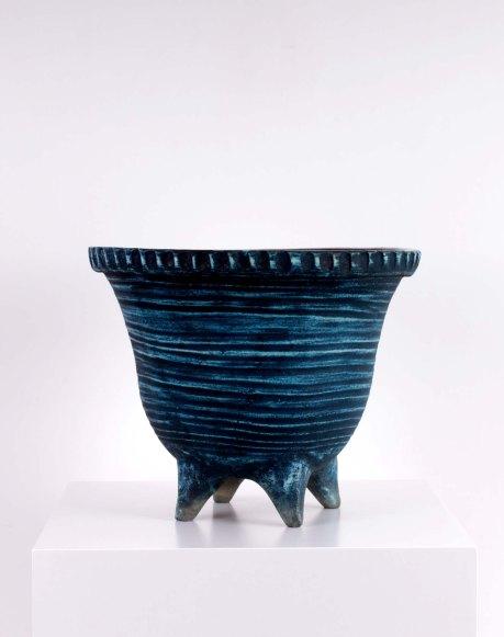 Accolay Ceramic Vase, 1950, France, H 34 cm