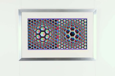 Original Lithography by Victor Vasarely, circa 1970, 79 x 119 cm, ed 94/250