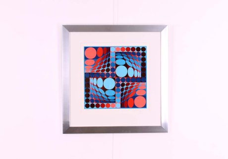 Original Lithography by Victor Vasarely, circa 1970, 70 x 70 cm, ed 169/250