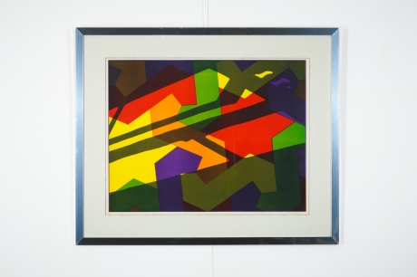 Original lithography by Guy De Rougemond, France, 1970, 72 x 88 cm