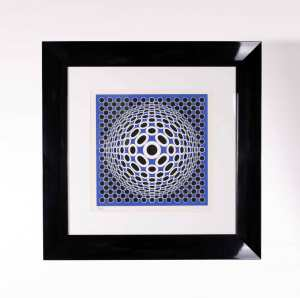 Original Lithography by Vasarely, France, 1970, L 88 cm, W 88 cm, Ed. 18/250.