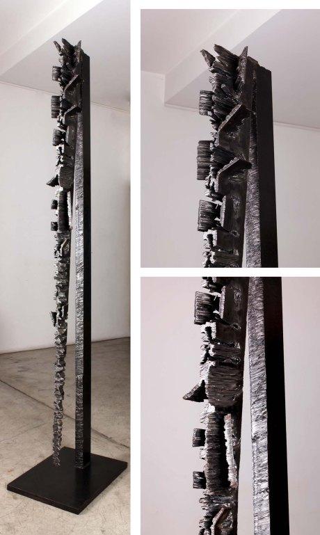 Steel Sculpture by Machat, France, 2002, Unique piece, 240 cm
