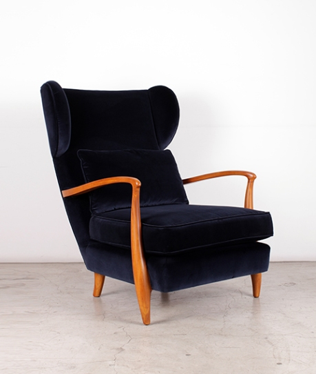 Pair of Paolo Buffa Armchairs, circa 1950, frontview (LR)