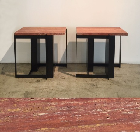 TA314-RedTravertinoSideTables