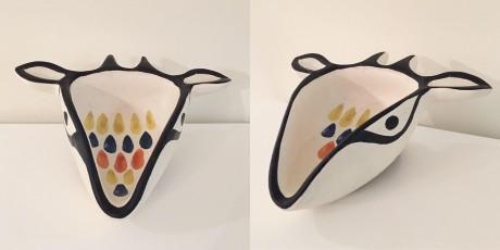 CS-Capron ceramic goat head
