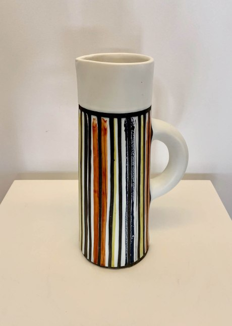 O435 Capron striped pitcher